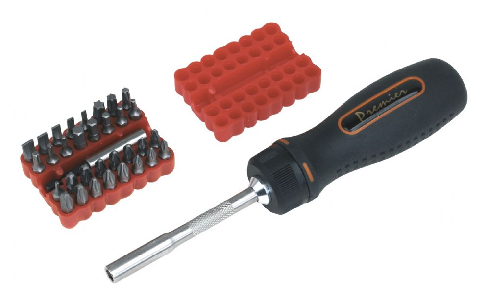 Fine Tooth Ratchet Screwdriver Set 34pc